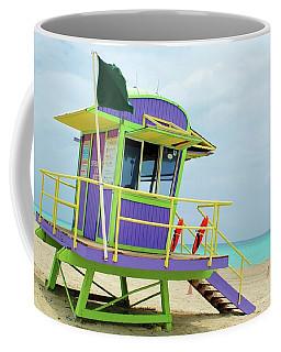 Art Deco Lifeguard Shack Coffee Mug