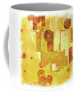 Art Deco Yellow Coffee Mug