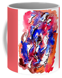 Coffee Mug featuring the painting Art Doodle No. 13 by Clyde J Kell