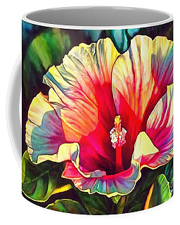 Coffee Mug featuring the painting Art Floral Interior Design On Canvas by Catherine Lott