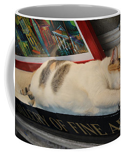 Art Gallery Cat Sleeping  Coffee Mug