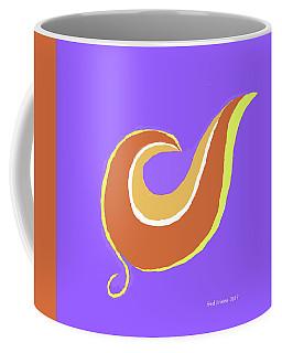 Art On Blue Coffee Mug