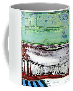 Coffee Mug featuring the painting Art Print Abstract 97 by Harry Gruenert