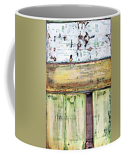 Coffee Mug featuring the painting Art Print Abstract 52 by Harry Gruenert