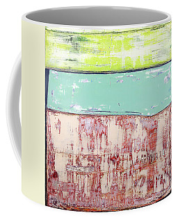 Coffee Mug featuring the painting Art Print Abstract 19 by Harry Gruenert