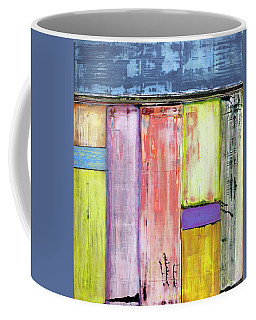Coffee Mug featuring the painting Art Print Abstract 47 by Harry Gruenert