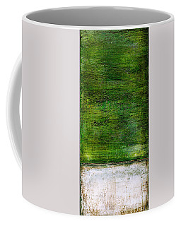 Coffee Mug featuring the painting Art Print Green White by Harry Gruenert