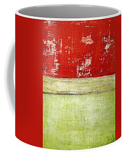 Coffee Mug featuring the painting Art Print Rotgelb by Harry Gruenert