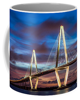 Arthur Ravenel Bridge At Night Coffee Mug