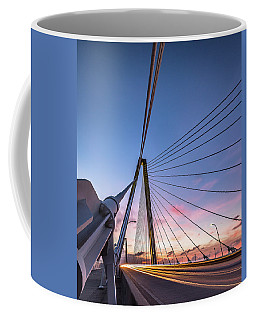 Arthur Ravenel Jr. Bridge Light Trails Coffee Mug