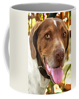 Coffee Mug featuring the painting Arthur The Hunting Dog by Tracey Harrington-Simpson