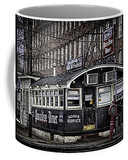 Coffee Mug featuring the photograph Arthur's Paradise Diner by Betty Denise
