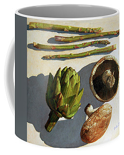 Coffee Mug featuring the painting Artichoke And Friends by John Dyess