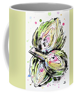 Artichoke Hearts Coffee Mug by Zaira Dzhaubaeva