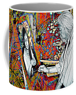 Artist In Abstract Coffee Mug by Ian Gledhill