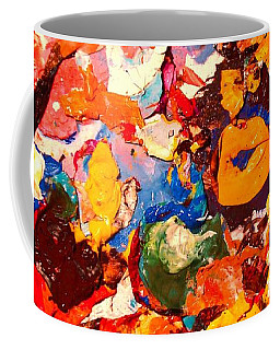 Coffee Mug featuring the painting Artist Palette by Natalie Holland
