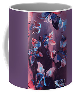 Artistic Colorful Butterfly Design Coffee Mug