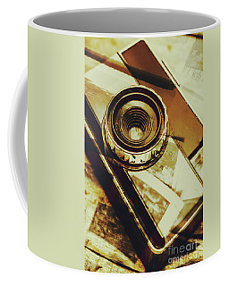 Artistic Double Exposure Of A Vintage Photo Tour Coffee Mug