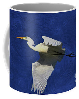 Coffee Mug featuring the painting Artistic Egret by Deborah Benoit
