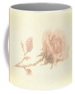 Coffee Mug featuring the photograph Artistic Etched Rose by Linda Phelps