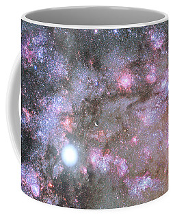 Coffee Mug featuring the digital art Artist's View Of A Dense Galaxy Core Forming by Nasa