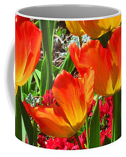 Coffee Mug featuring the photograph Artsy Tulips by Karen Molenaar Terrell