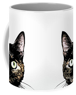 Peeking Cat Coffee Mug