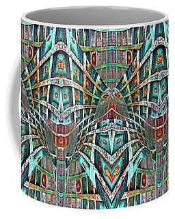 Coffee Mug featuring the digital art The Doors Of Perception by Menega Sabidussi