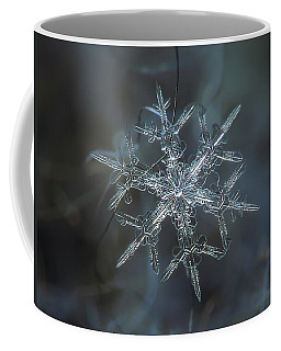 Coffee Mug featuring the photograph Snowflake Photo - Rigel by Alexey Kljatov