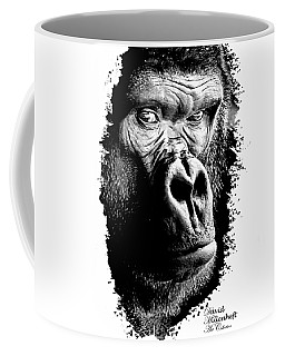 Coffee Mug featuring the photograph Gorilla Canvas Print, Photographic Print, Art Print, Framed Print, Greeting Card, Iphone Case, by David Millenheft