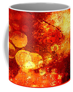 Coffee Mug featuring the digital art Raindrops And Bokeh Abstract by Fine Art By Andrew David