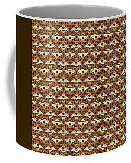 Bees And Honeycomb Pattern Coffee Mug