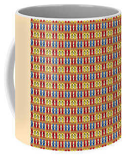 Flip Flops Stripes Graphic In Primary Colors Coffee Mug