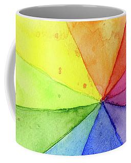 Watercolor Rainbow Beachball Pattern Coffee Mug