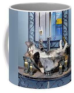 Funny Pet Print With A Tipsy Kitty  Coffee Mug