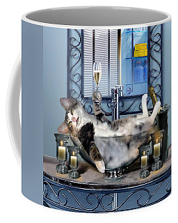 Funny Pet Print With A Tipsy Kitty  Coffee Mug