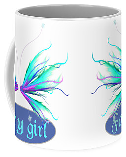 Fairy Girl Feathery Wings Coffee Mug