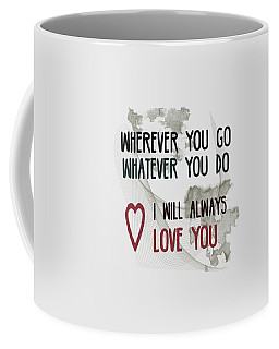 Coffee Mug featuring the digital art Wherever You Go by Jutta Maria Pusl