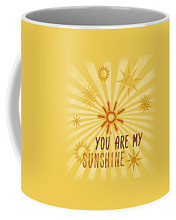 Coffee Mug featuring the digital art You Are My Sunshine by Jutta Maria Pusl