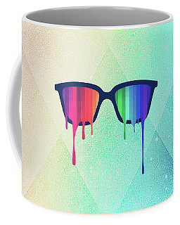 Love Wins Rainbow - Spectrum Pride Hipster Nerd Glasses Coffee Mug