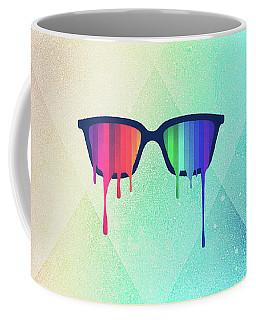 Love Wins Rainbow - Spectrum Pride Hipster Nerd Glasses Coffee Mug
