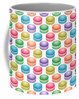 Coffee Mug featuring the digital art Colorful Pop Art Macarons by MM Anderson
