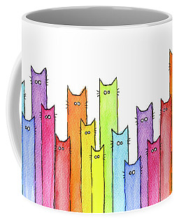 Rainbow Of Cats Coffee Mug