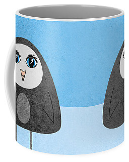Cute Geometric Penguin Coffee Mug