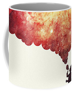 The Universe In A Soap Bubble Awesome Space Nebula Galaxy Negative Space Artwork Coffee Mug