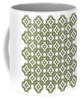 Celtic Knot Interlocking In Green And Gold Coffee Mug