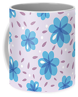 Gentle Blue Flowers Coffee Mug