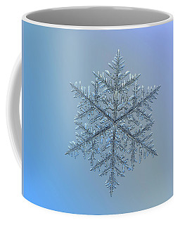 Coffee Mug featuring the photograph Snowflake Photo - Majestic Crystal by Alexey Kljatov