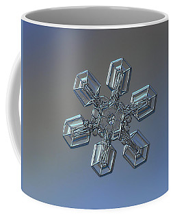 Coffee Mug featuring the photograph Snowflake Photo - High Voltage by Alexey Kljatov