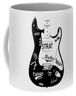 Fender Stratocaster Blackie 77 Coffee Mug